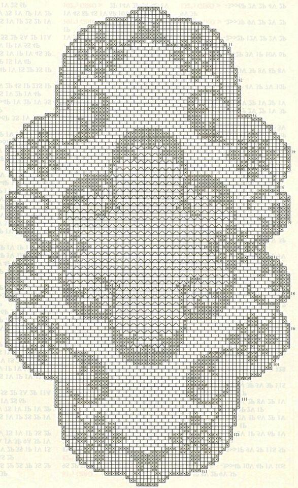Filet crochet | uncinetto | Pinterest