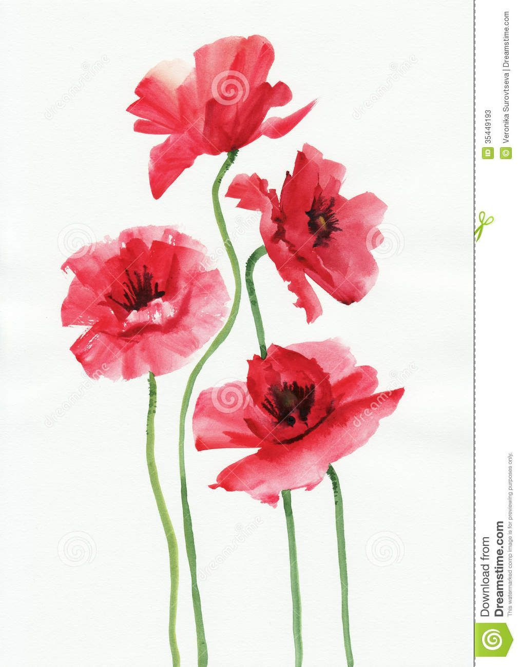 Watercolor Painting Of Red Poppies Download From Over 56 Million High Quality Stock Phot Watercolor Poppies Watercolor Flowers Paintings Watercolor Paintings