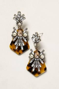 tortoise crystal earrings.