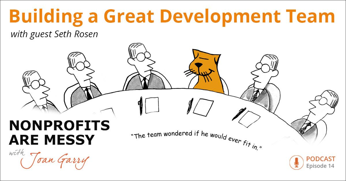 Seth Rosen, my fundraising genius and associate, lays out the steps for building a happy and productive development team.