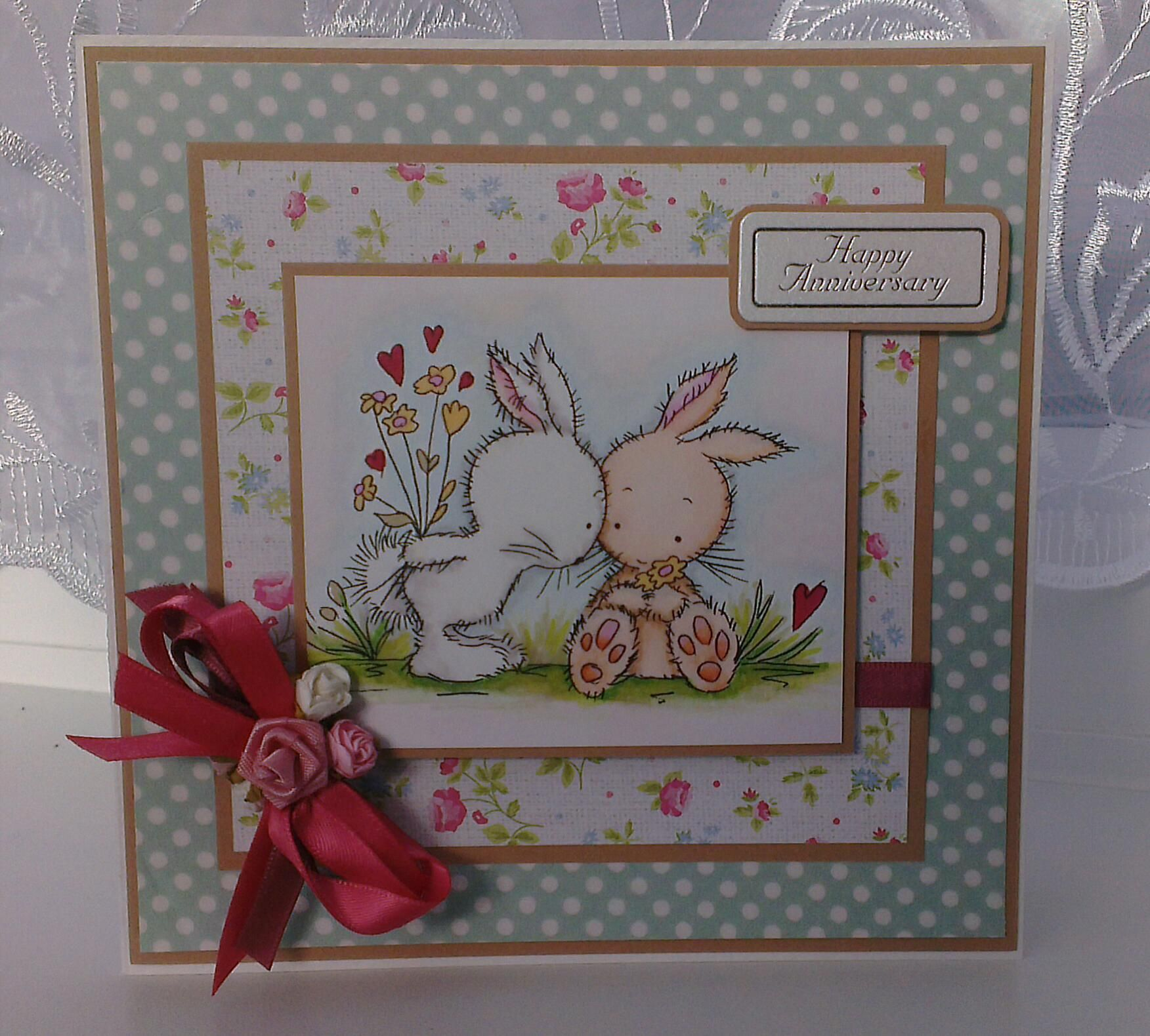 Handmade card using lili of the valley stamps wild rose studio