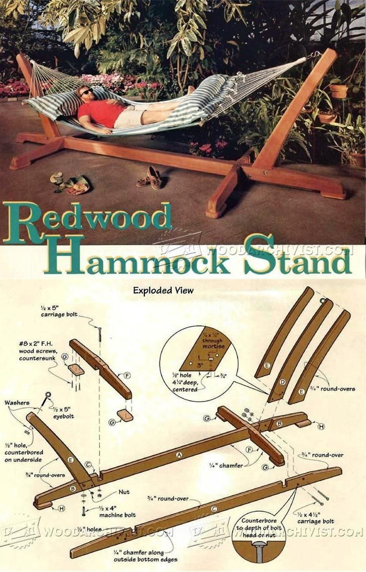 Hammock Stand Plans Outdoor Plans and Projects WoodArchivist