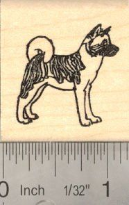 Small Akita dog Rubber Stamp >>> Click image for more details.
