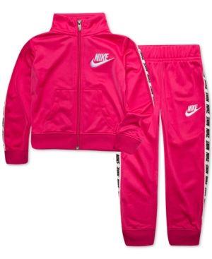 5c6e28642de4 Nike Toddler Girls 2-Pc. Tricot Track Jacket   Pants Set - Pink 3T ...