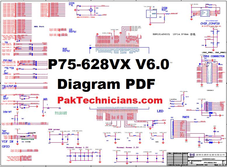 P75 628vx V6 0 Circuit Diagram Pdf Free Download 1 In 2020 Circuit Diagram Diagram Circuit