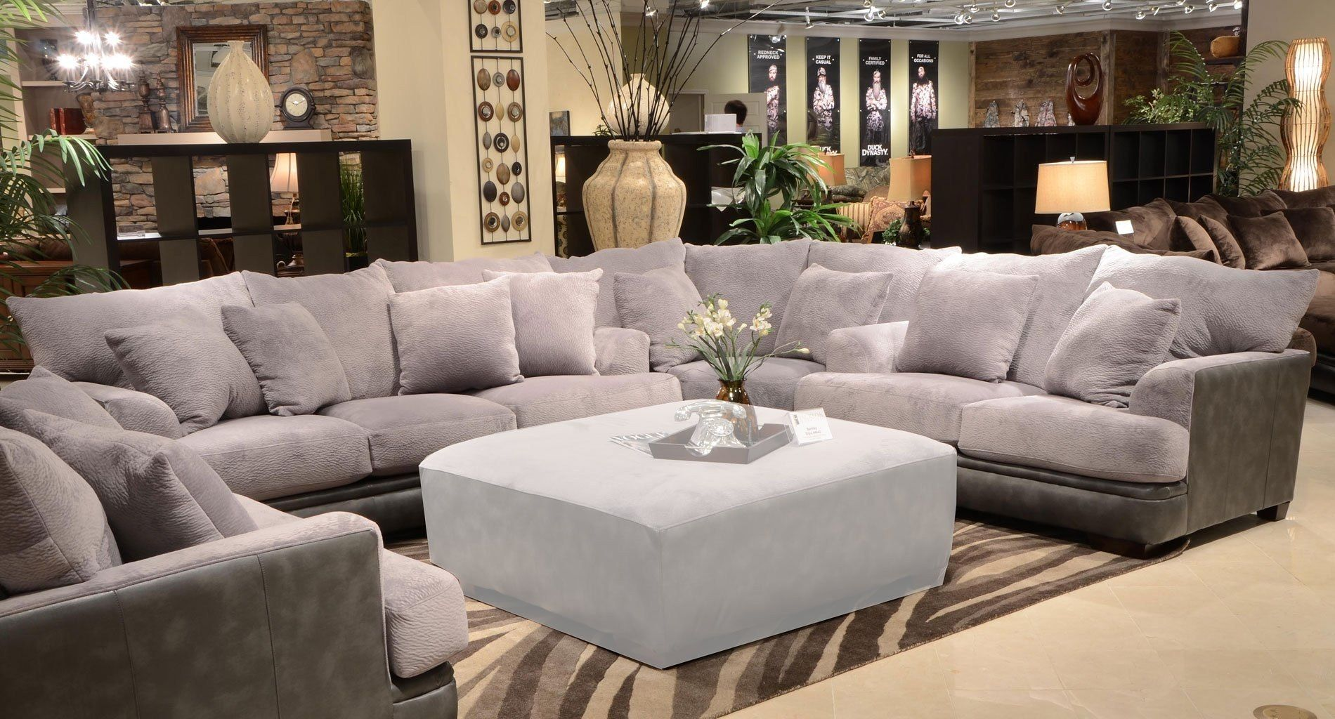 Barkley Sectional Grey Large Sectional Sofa Living Room Sets Oversized Sectional Sofa