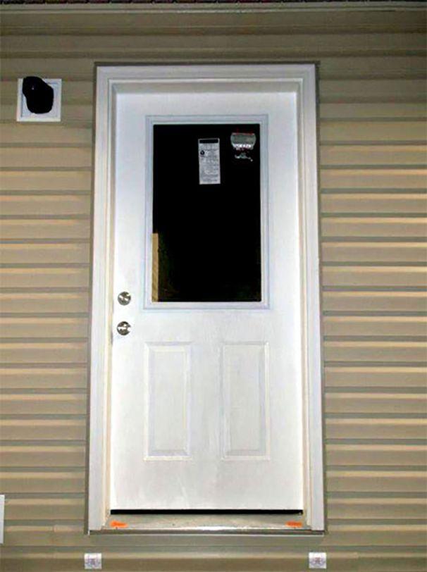36 Inch Half Window Exterior Door  Giles Homes  Home
