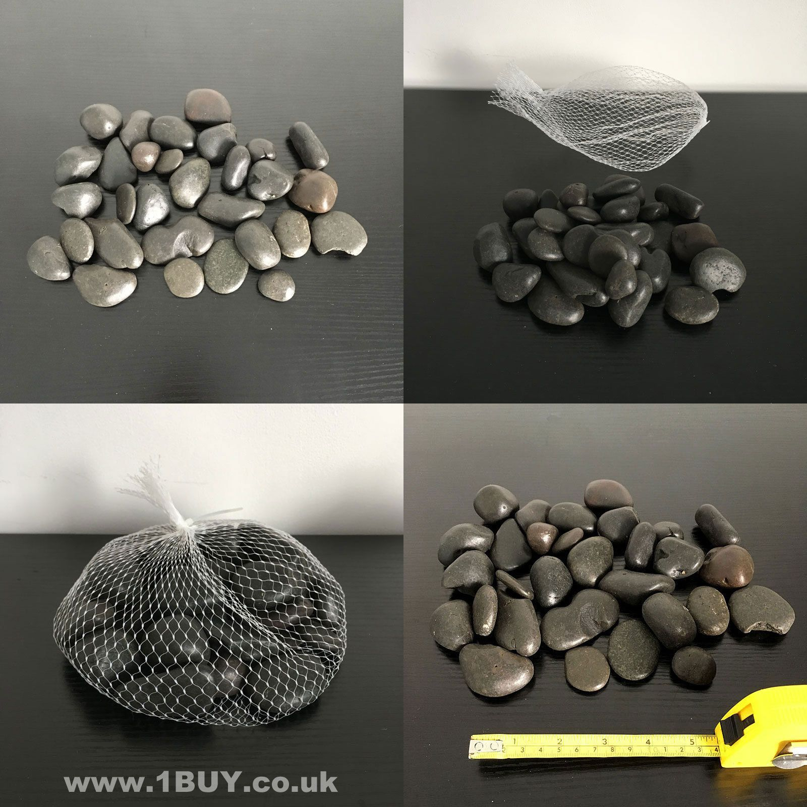 Black Decorative Stones Brand New In A Net 1kg In Weight Great For