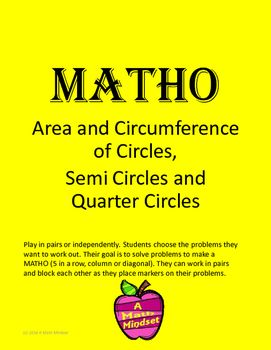 Area And Circumference Of Circles A Math Mindset Pinterest