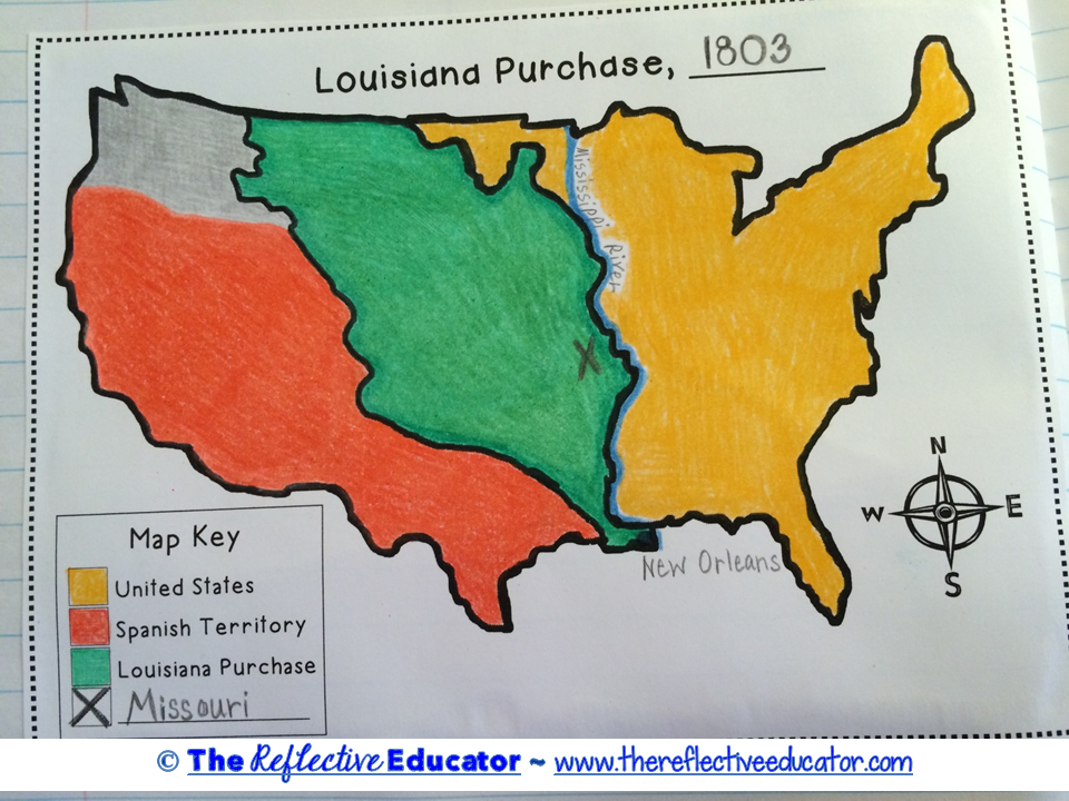 Map Of Louisiana Territory.Louisiana Purchase Is A Social Studies Lesson Designed To Teach