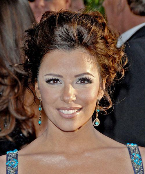 Eva Longoria Wedding Hair Style: Eva Longoria Parker Long Curly Updo