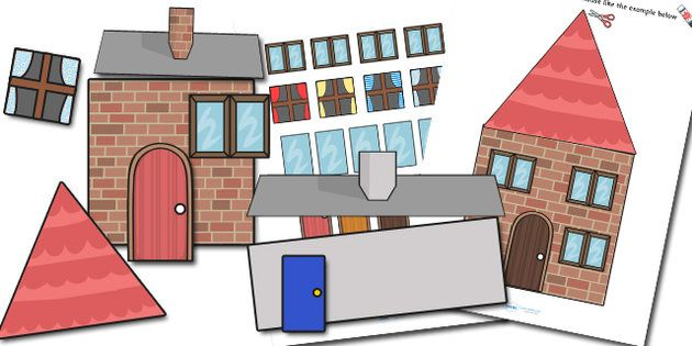 Houses and homes build a house using shapes houses and for Different shapes of houses