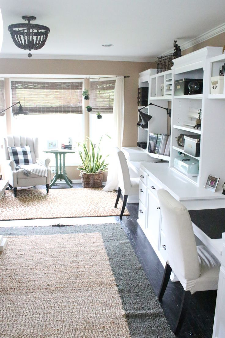 Craft room office ideas - Home Office Craft Room Reveal Home Office Space Craft Supply Storage Ideas