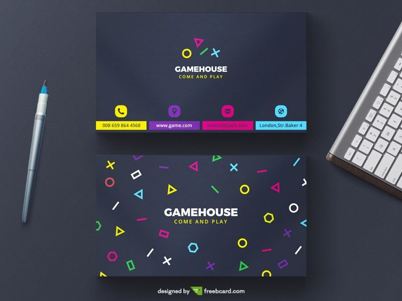 Free Business Card Psd Template Niftygraphic Free Premium Graphic Design Templates Business Card Psd Free Business Cards Business Card Inspiration