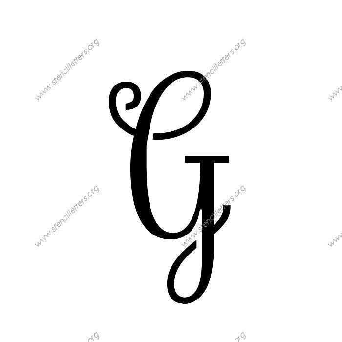Exquisite Fine Cursive Uppercase  Lowercase Letter Stencils AZ