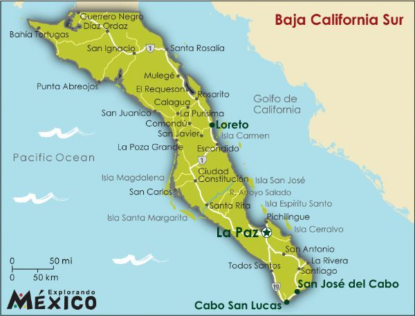 La Paz No S�lo Est� En Bolivia Baja California Cabo And Cancun: Map Of West Coast Mexico At Infoasik.co