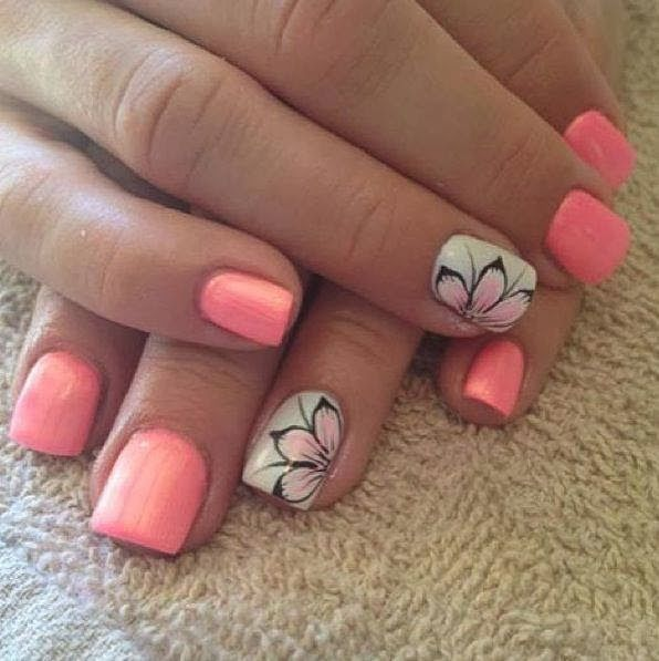 35 Hot Tropical Nail Art Designs For Summer Nails Pinterest