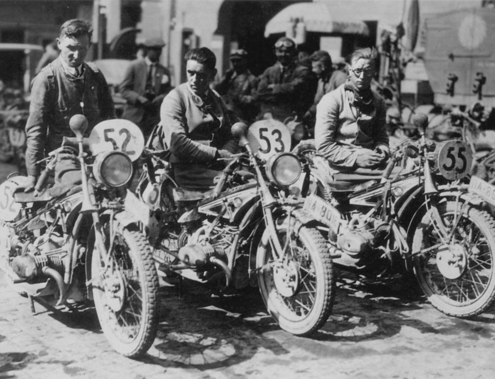 BMW R47 & Bayron & Henne & Koppen - German BMW Six Days Trial Team 1928