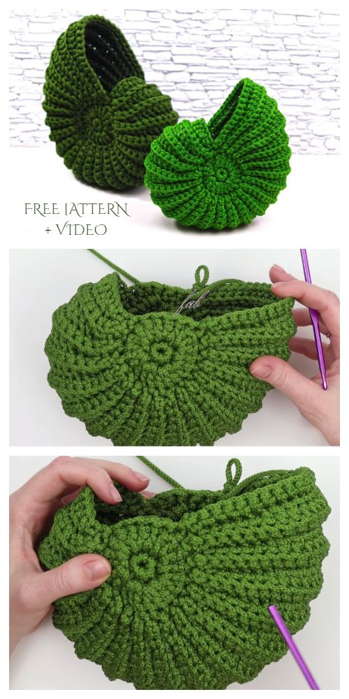 Spiral Shell Free Crochet Patterns + Video – DIY Magazine