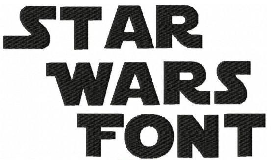 Star Wars Font-Machine Embroidery Design - Three Sizes + BX Format
