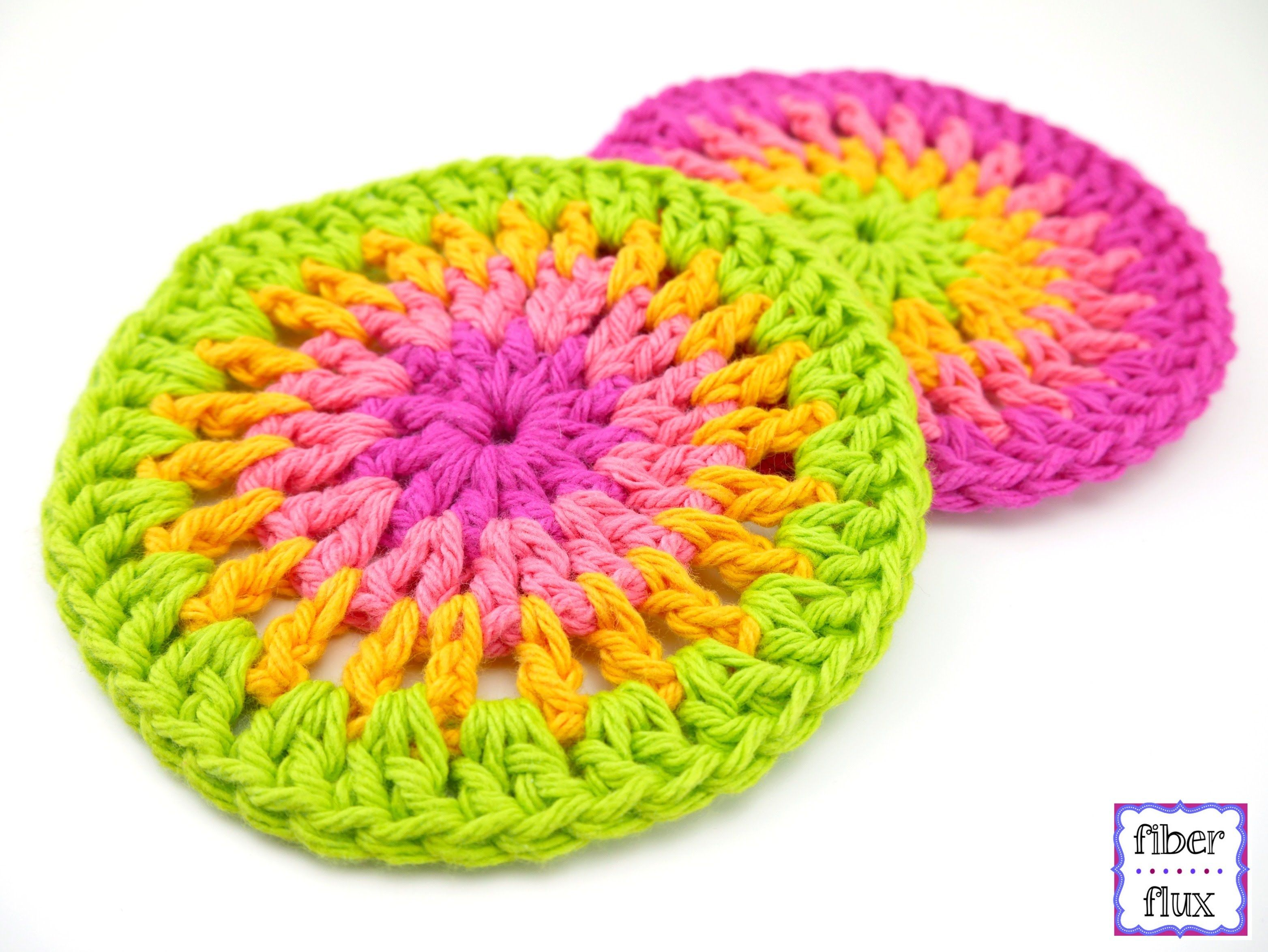 How To Crochet the Simply Cheerful Trivets/Coasters, Episode 297 ...
