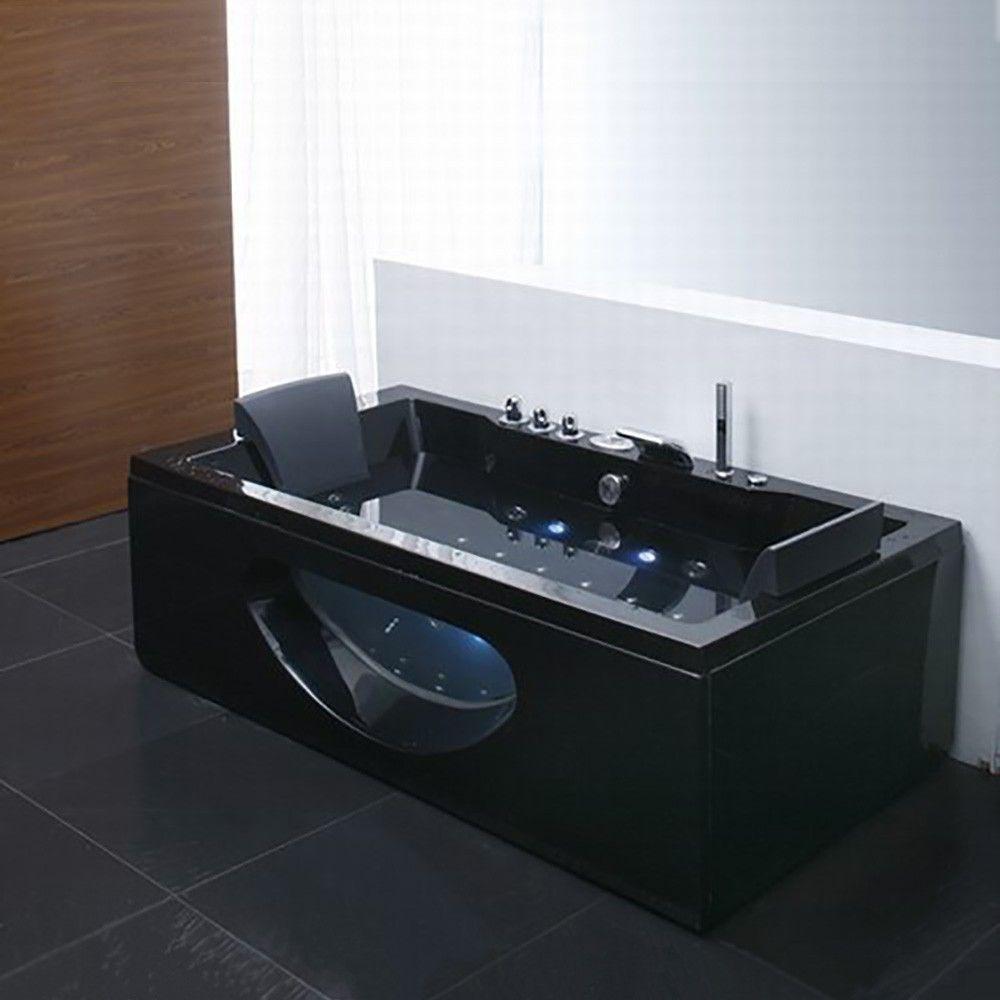 Whirlpool Bath tub - Rectangle Double 1700*850*650 Black | House ...