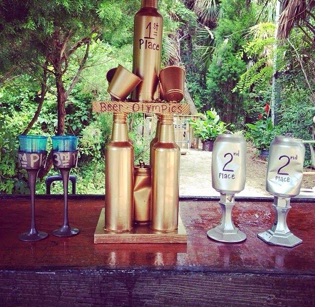 beer olympic trophies Beer Olympics Pinterest