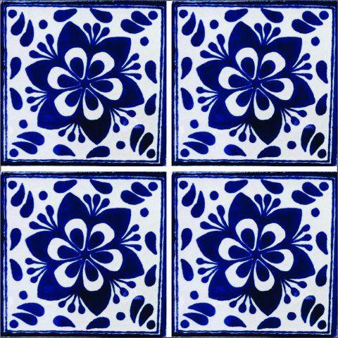 Mosaicos de talavera azulejos de talavera 10x10cms 90 for Muestras de azulejos