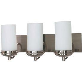 3-Light Polaris Brushed Nickel Bathroom Vanity Light