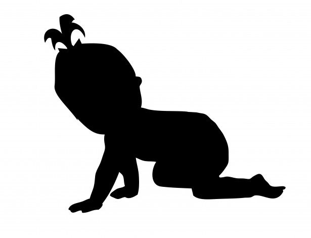 Baby Girl Crawling Silhouette Free Stock Photo Public Domain Baby Silhouette Cute Baby Drawings Baby Girl Art