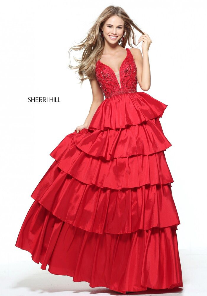 You have been sent a photo from Sherri Hill's Spring 2017 collection via  the Sherri Hill. Mobile ApplicationsSherri Hill Prom DressesTiered ...