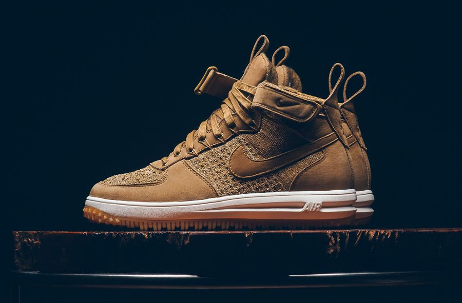 new style ba31d 77cbe Nike Lunar Force 1 Flyknit Workboot  Flax  Golden Beige
