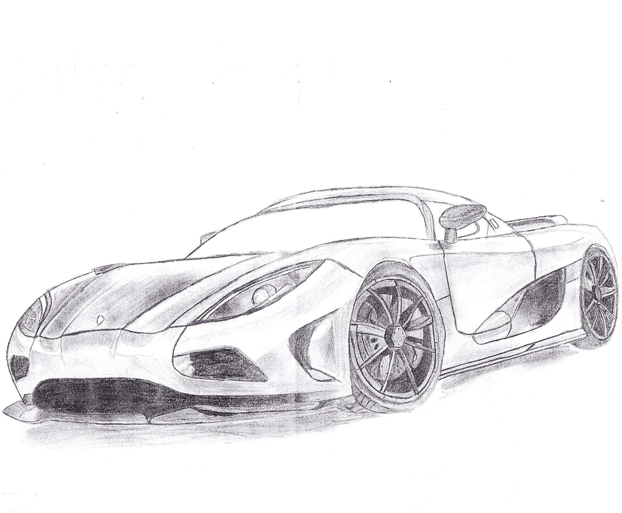 Lotus Car Coloring Pages : Koenigsegg agera draw by sorcepk on deviantart car coloring