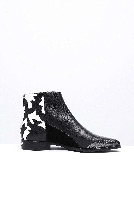 bottines pour femme mods nash noir blanc Zadig & Voltaire