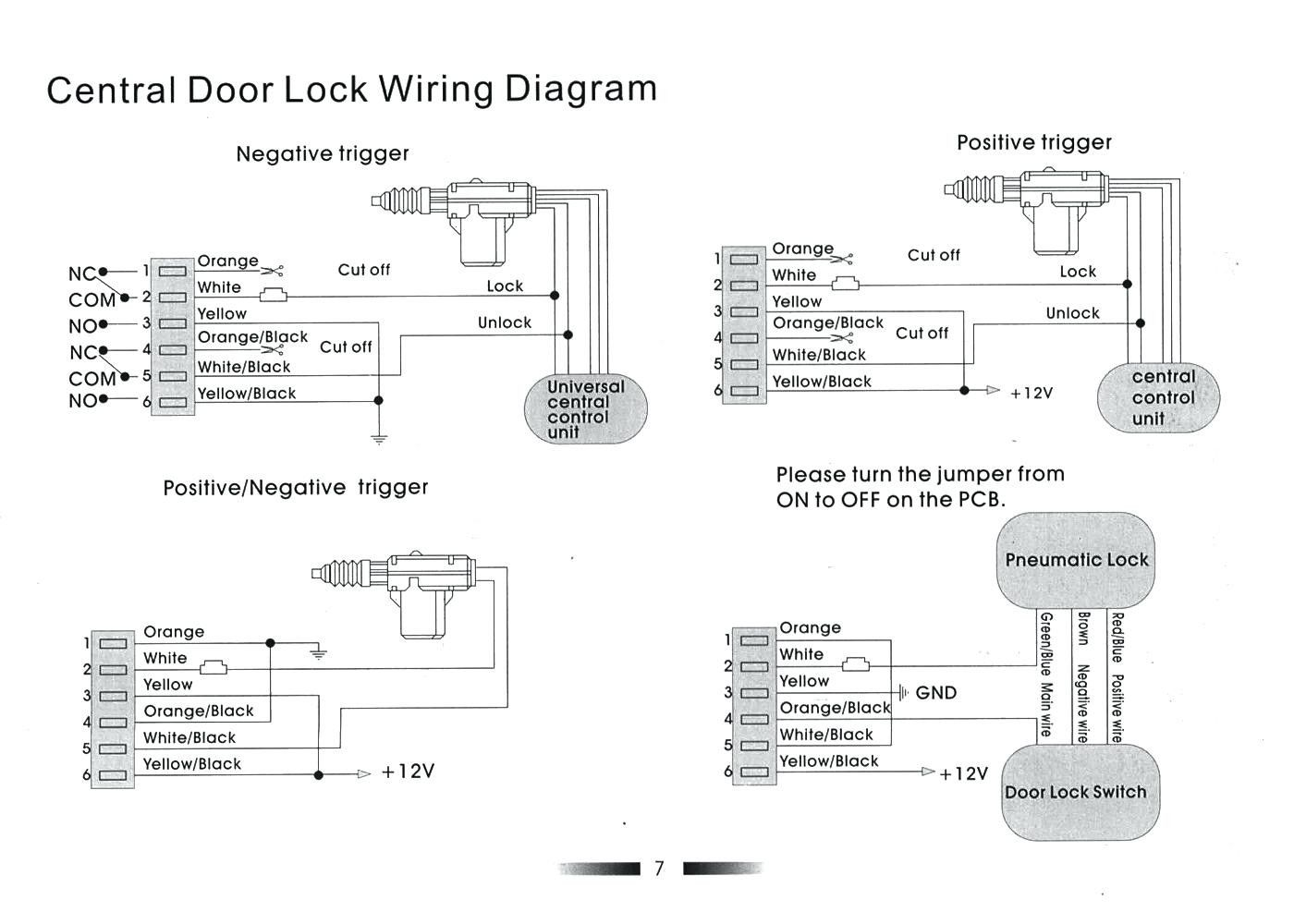 Door Lock Actuator Wiring Diagram Mes 5 Wire Great Central Locking New