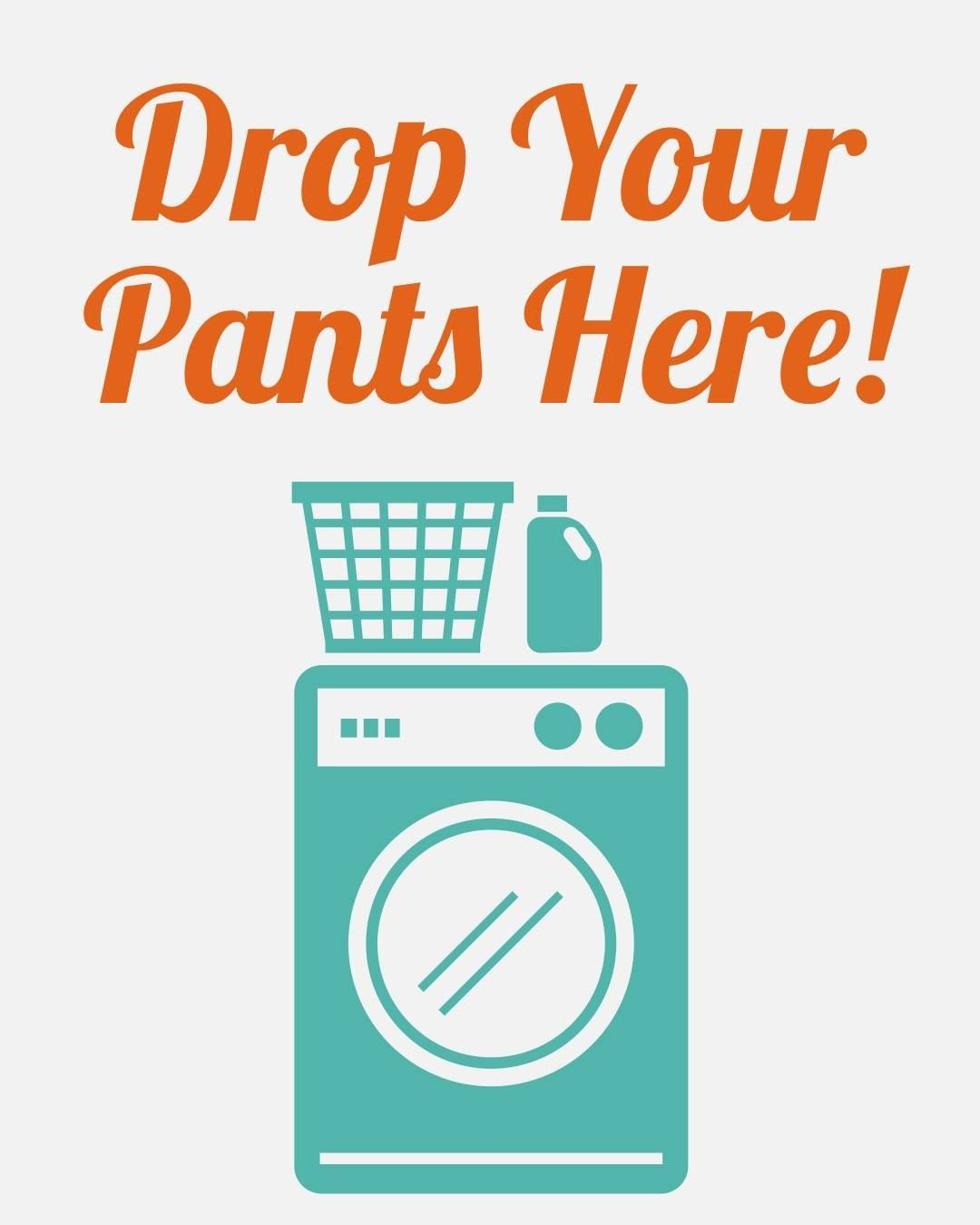 Laundry Time 😉 Drop your pants here. // Shopping Inappropriate Shop ...