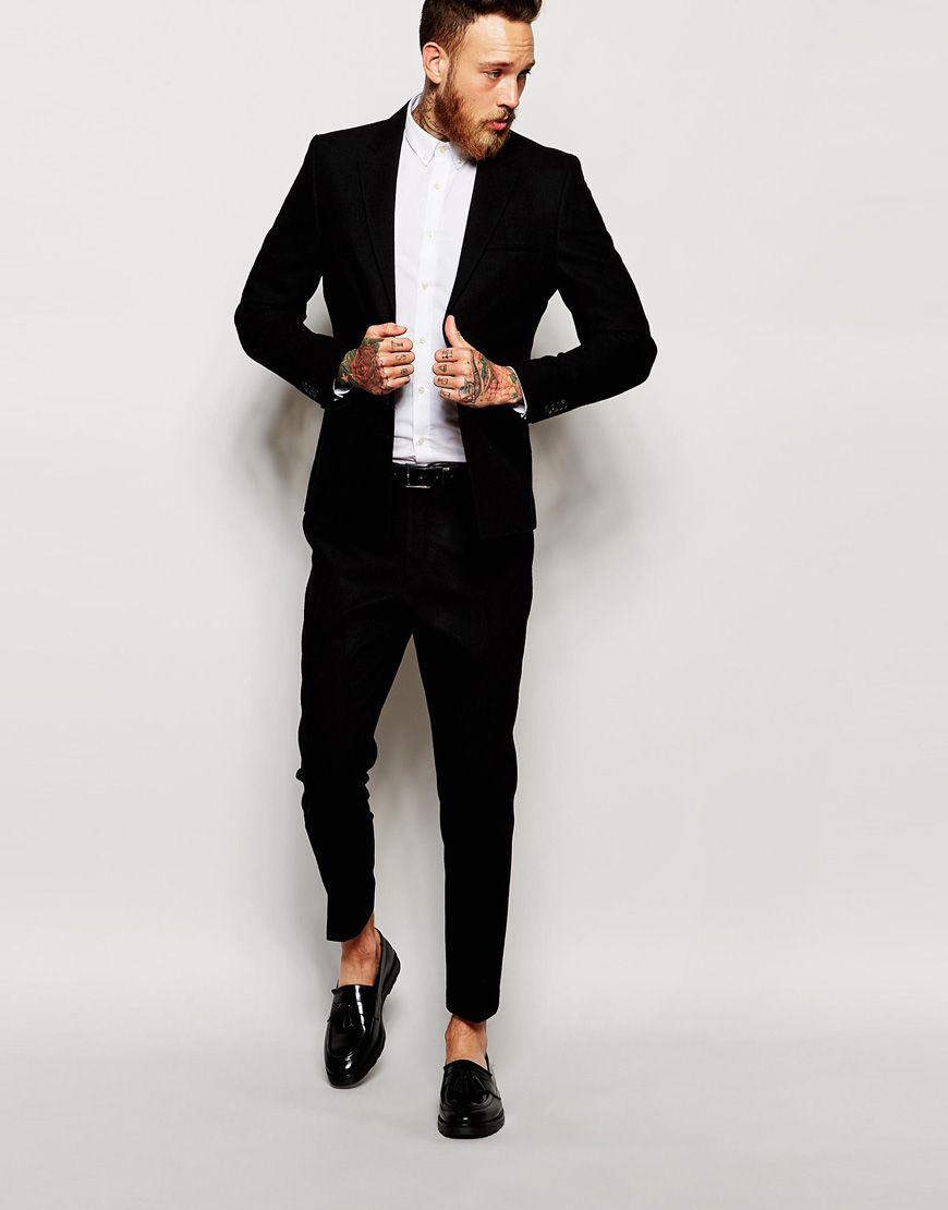 Bild 1 von Selected Homme – Anzug mit eckigem Saum in schmaler ...