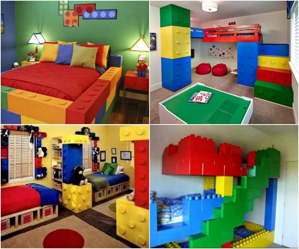 Lego themed room.  Lego bedroom, Lego bedroom decor, Lego room