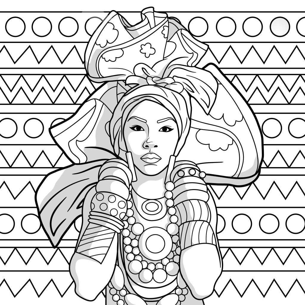 Pin By April Brooks On Color Cultural Women Coloring Book Art African Art African Art Projects