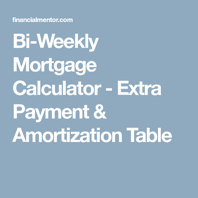 mortgage calculator with extra payment options