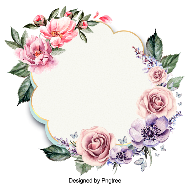 Beautiful Flowers And Painting The Border Flower Wreath Burgundy Png Transparent Clipart Image And Psd File For Free Download Flower Border Clipart Flower Graphic Design Flower Backgrounds