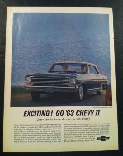 1963 chevrolet chevy ii nova ss coupe large gm car ad print gift 1963 chevrolet chevy ii nova ss coupe large gm car ad print gift 1964 1962 sciox Choice Image