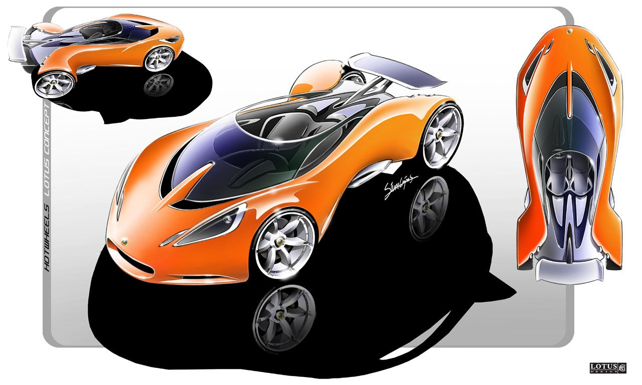 Lotus Design Hot Wheels Concept Sketches Car Body Design Desenhos
