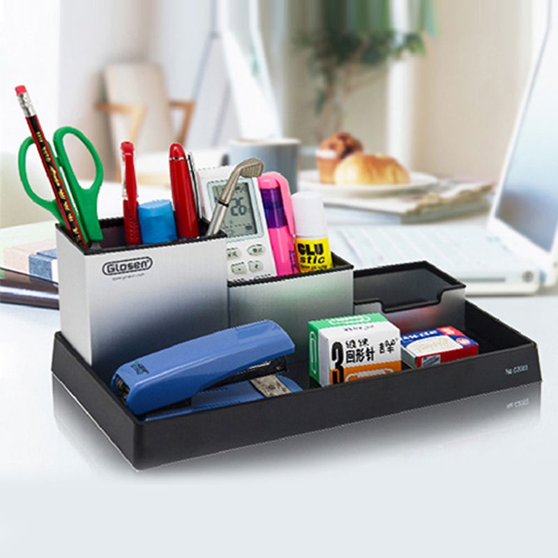 Find More Pen Holders Information About Metal Desktop Storage Box Organiser Drawer Card Office Stationery