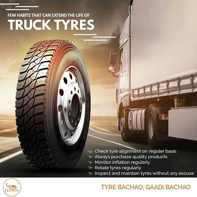 Few Habits That Can Extend The Life Of Truck Tyres Truck Tyres Tire Alignment Tire
