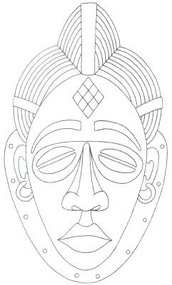 segunda-feira, 4 de junho de 2012 Máscaras Africanas. 1 Máscara da etnia Lwalwa da República Democrática do Congo, essa máscara é usada p...