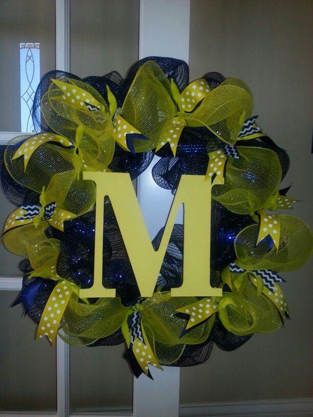 Michigan deco mesh wreath