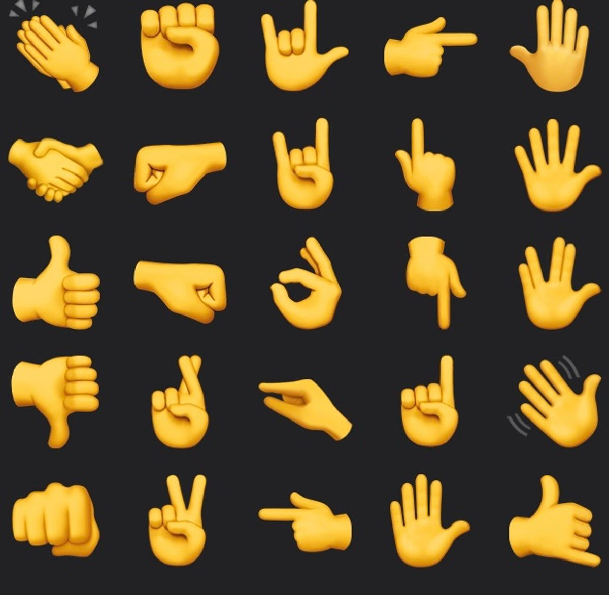 What Do All The Hand Emojis Mean Or How To Know When To Use Prayer Hands Vs Applause In 2020 Hand Emoji Hand Emoji Meanings Prayer Hands