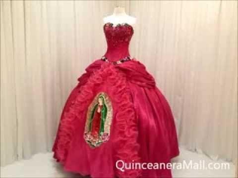 Virgen de Guadalupe Quinceanera Dress