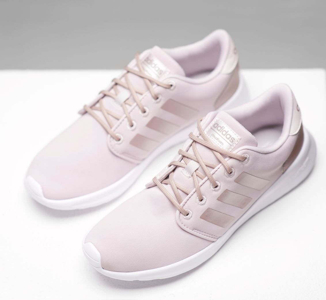 28377cb2c174c Race your way to subtle pink style with the adidas Cloudfoam racers ...